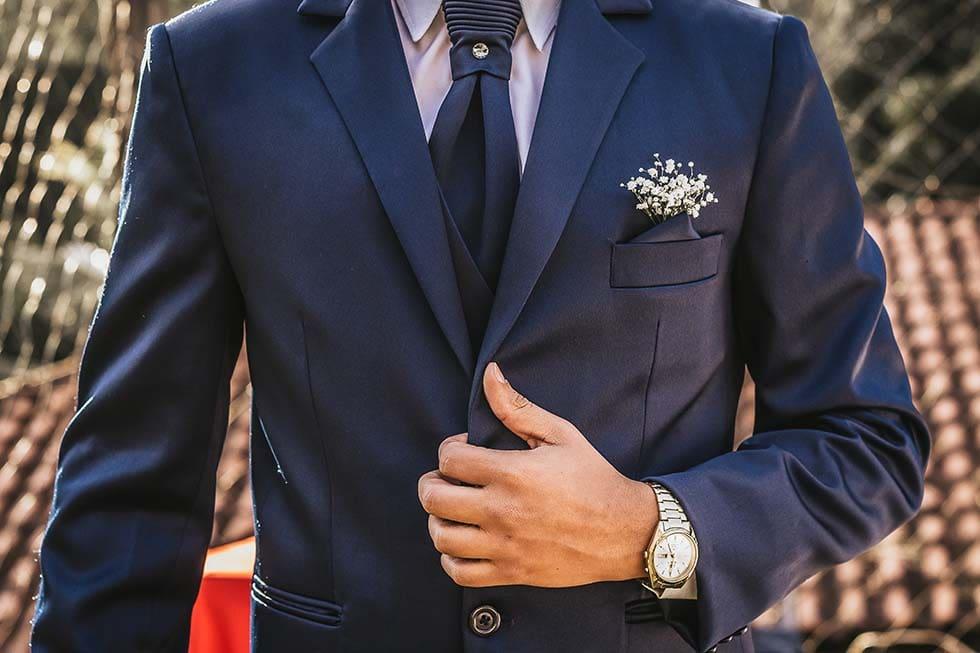 Anzug Hochzeit Blau