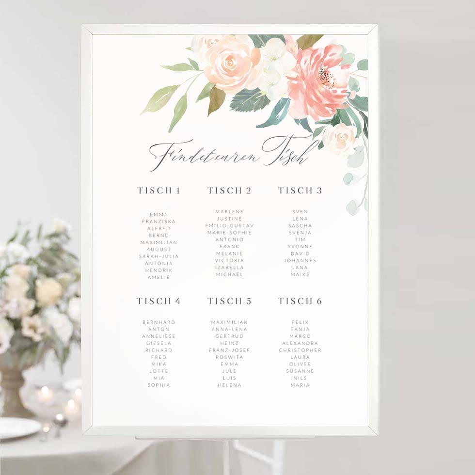 Sitzplan Hochzeit Plakat