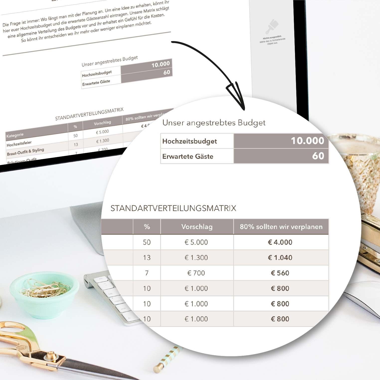 Budgetplan zum Downloaden